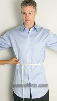 how to take dress shirt measurements